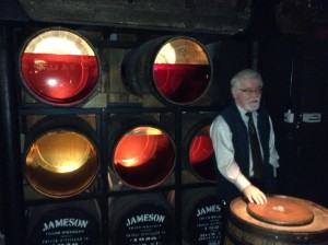 Ageing whisky at Jameson