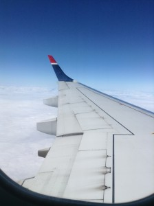 Love the view from the wing when flying