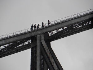 Sydney Bridge Climb in rain