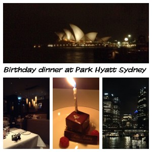 Park Hyatt Sydney Birthday