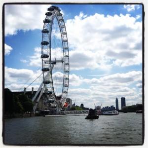 Thames view of London Eye