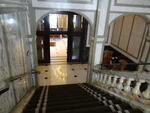 Rosewood London stairs Holborn Dining Room