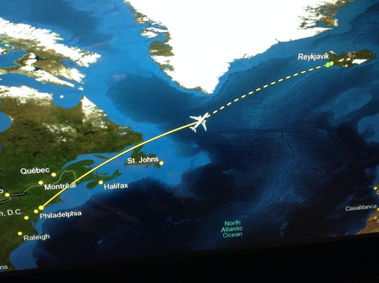 Newark To Reykjavik Iceland Flight Map Philatravelgirl